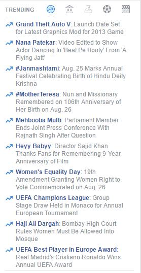 trending on facebook