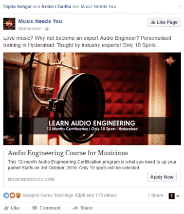 Facebook business model promoted facebook post