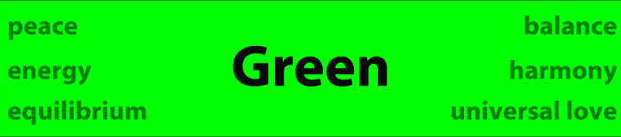 Psychology of Color Green