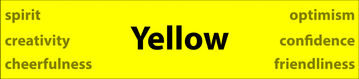 Psychology of color yellow