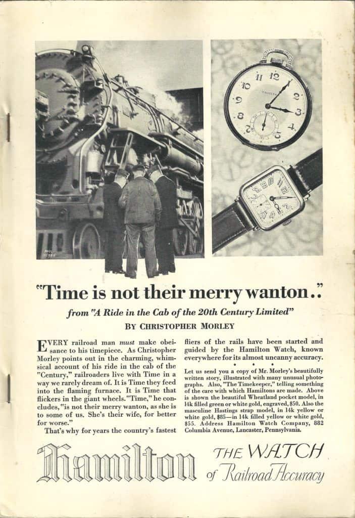 1928 Hamilton Vintage Print ads