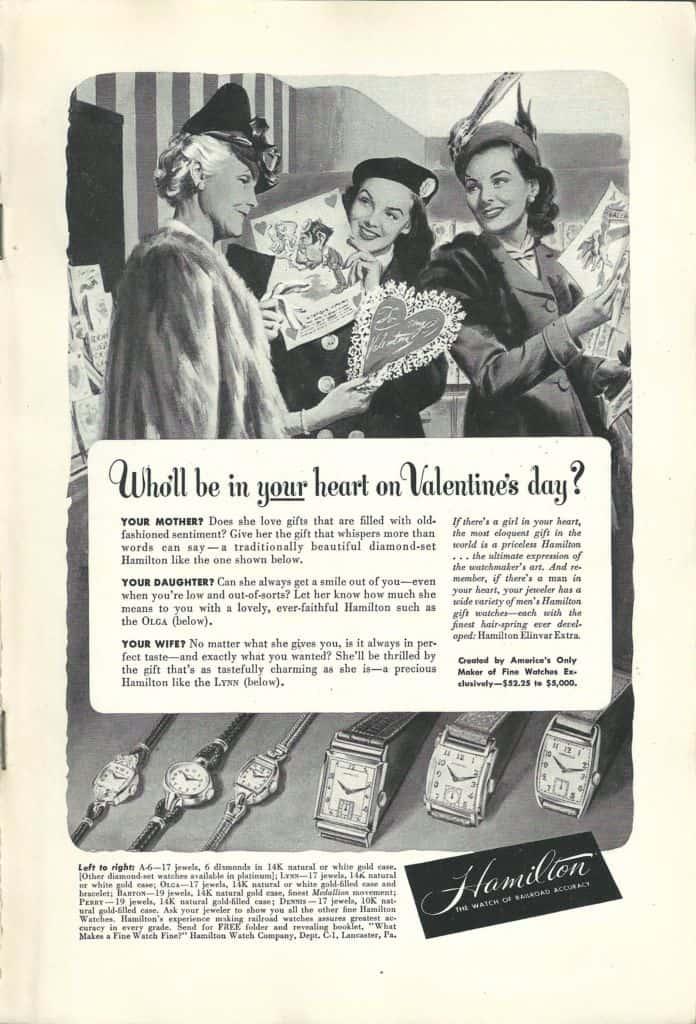 1948 Hamilton Vintage Print ads