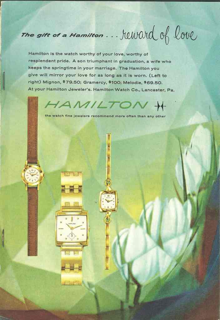 1959 Hamilton Vintage Print ads