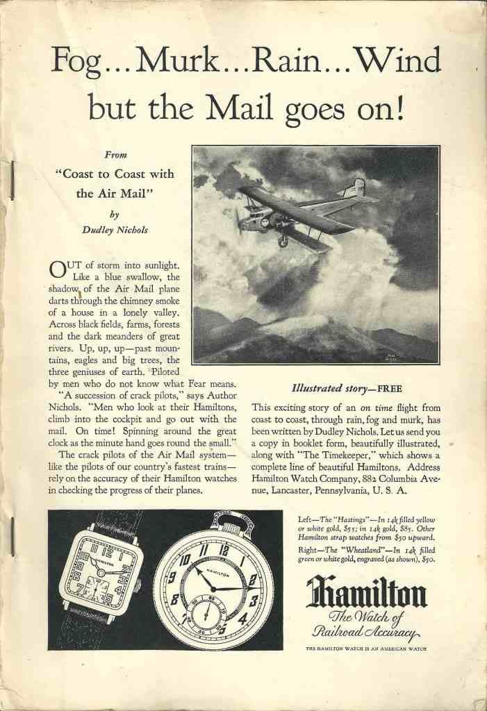 1929 Hamilton Vintage Print ads