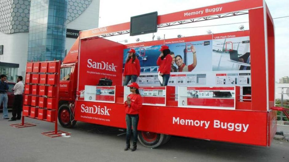 brand activation btl sandisk