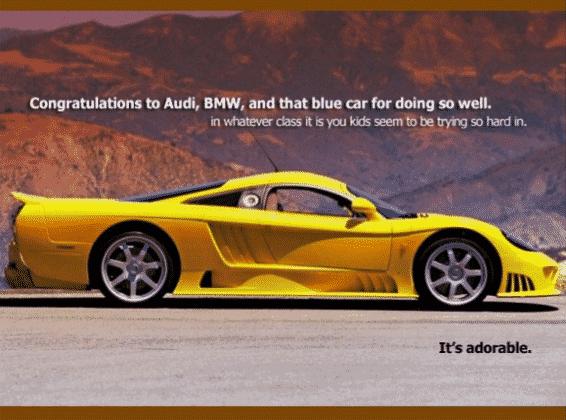 Bmw vs Audi vs subaru vs saleen