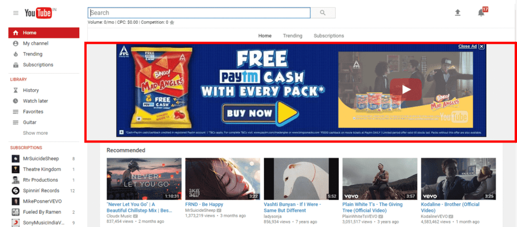 how does youtube make money landing page