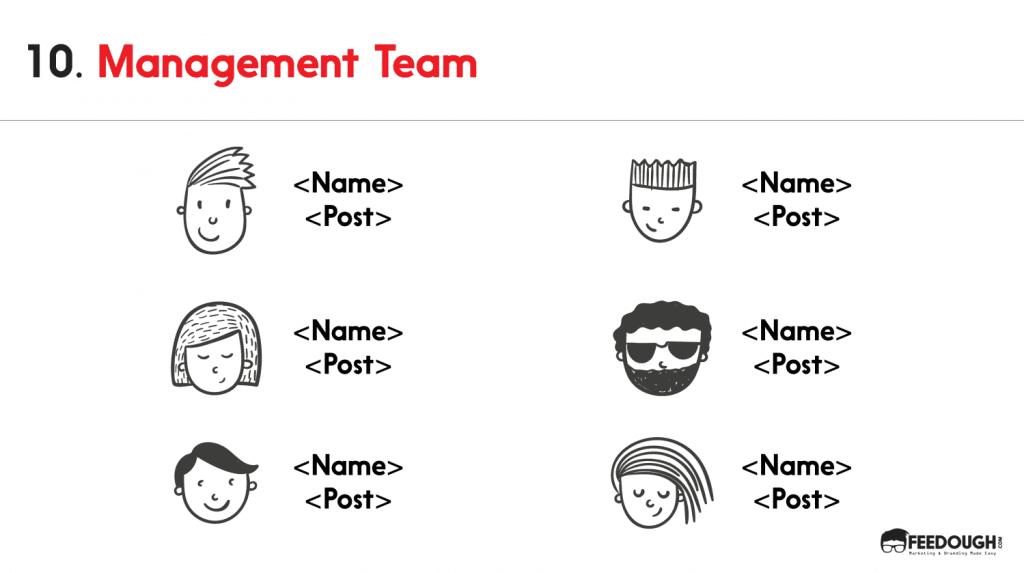 pitch deck - management team