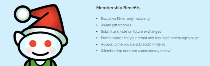 redditgifts elves benefits