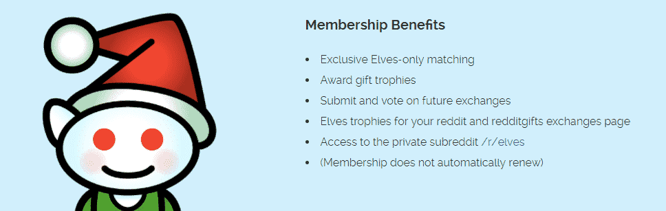 redditgifts elves benefits