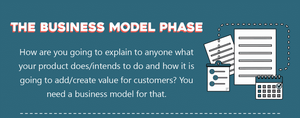 startup process - business model phase