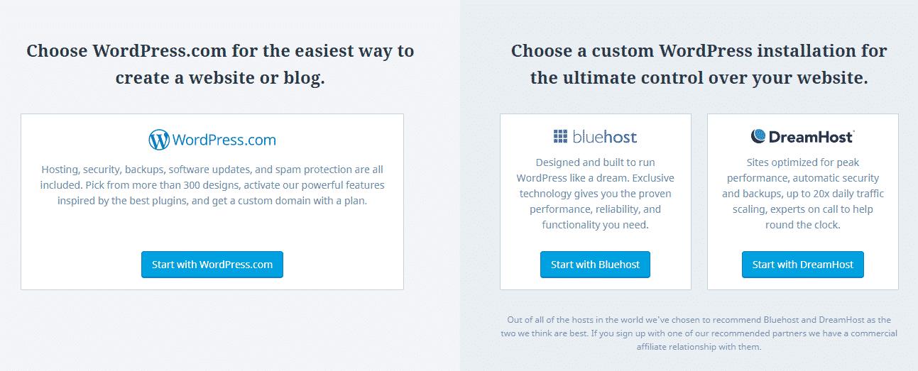 affiliate hosting wordpress