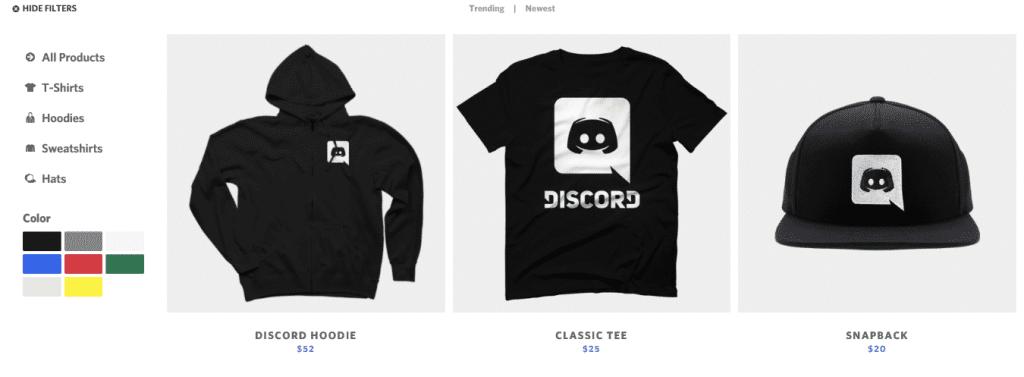 how does discord make money merchandise