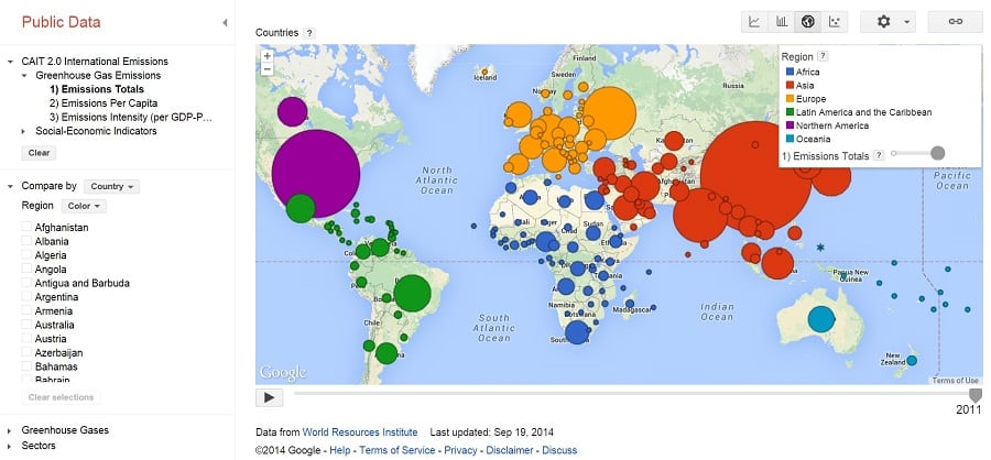 google public data explorer