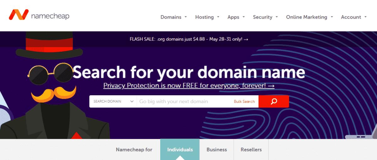 namecheap website hosting development tools