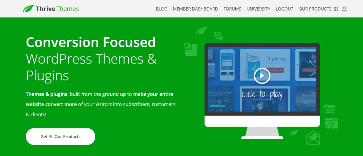 thrive themes website hosting development
