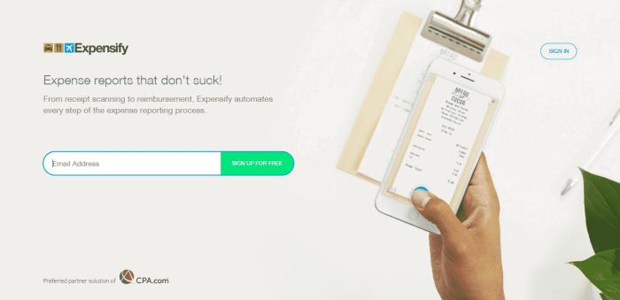 expensify best finance app