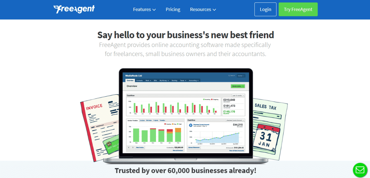 freeagent financial resource