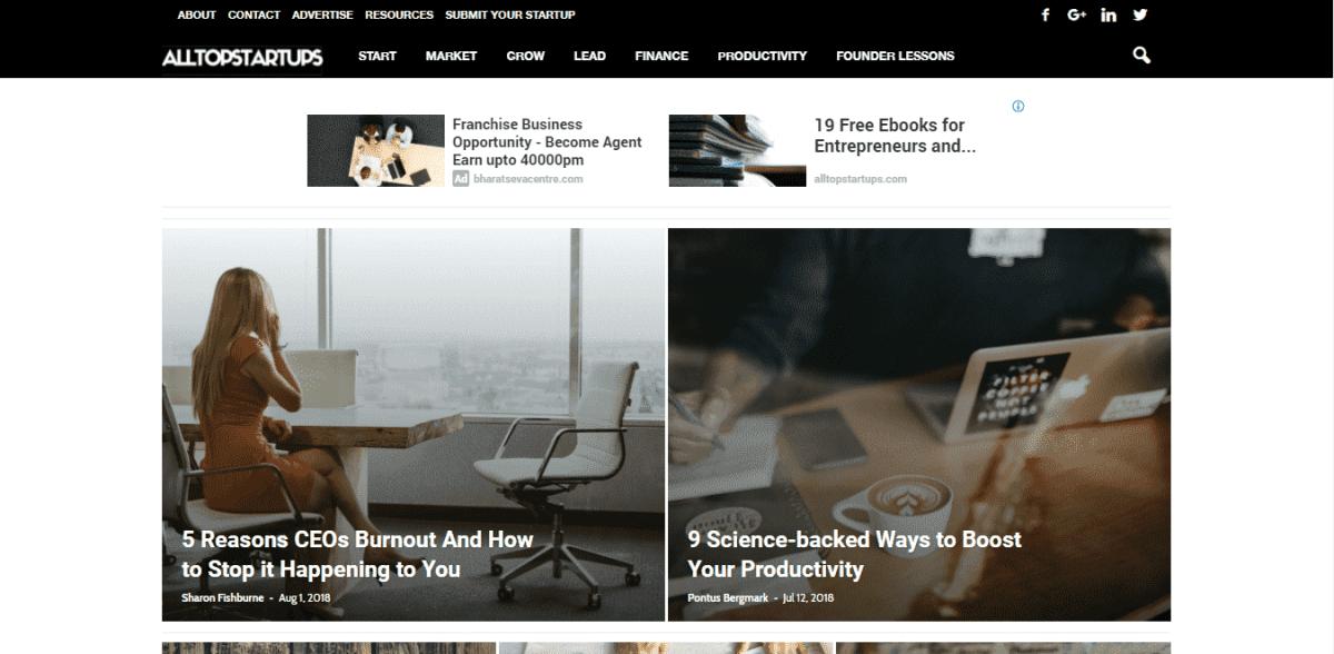 alltopstartups startups directory
