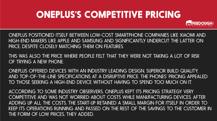 OnePlus Competitive Pricing