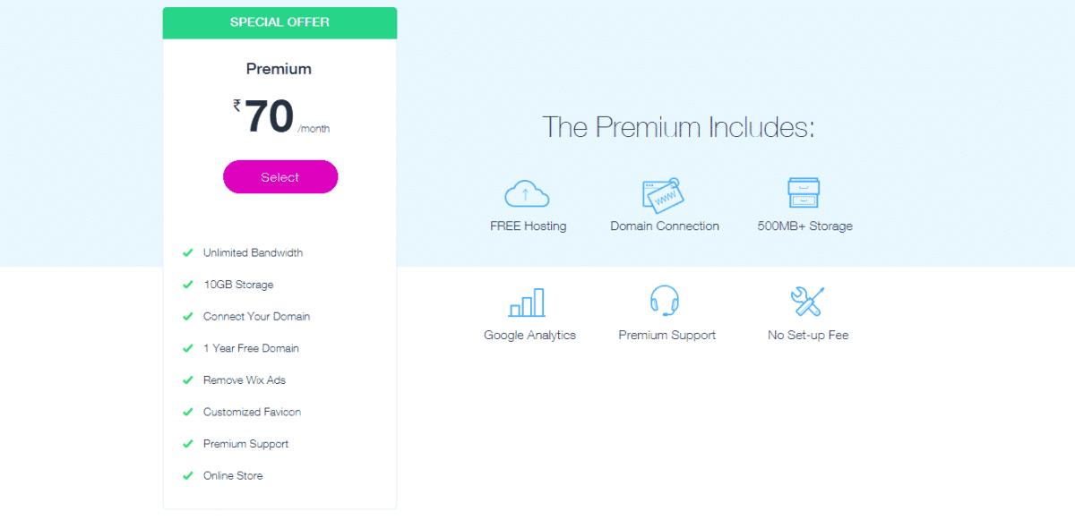 Wix premium