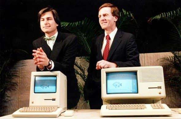 First Macintosh launch