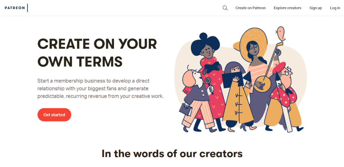 patreon business model