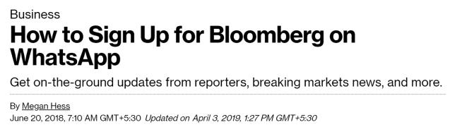bloomberg whatsapp updates