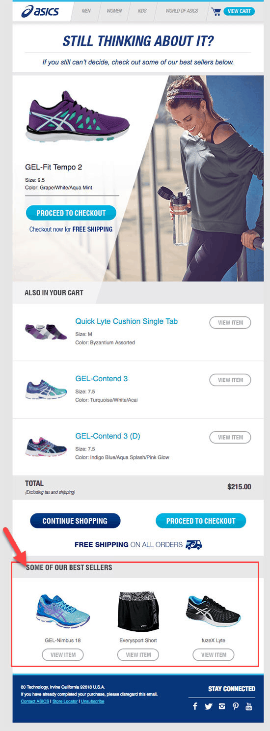Asics recommendation