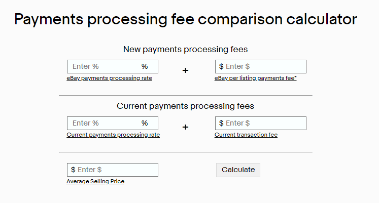 ebay payment fee