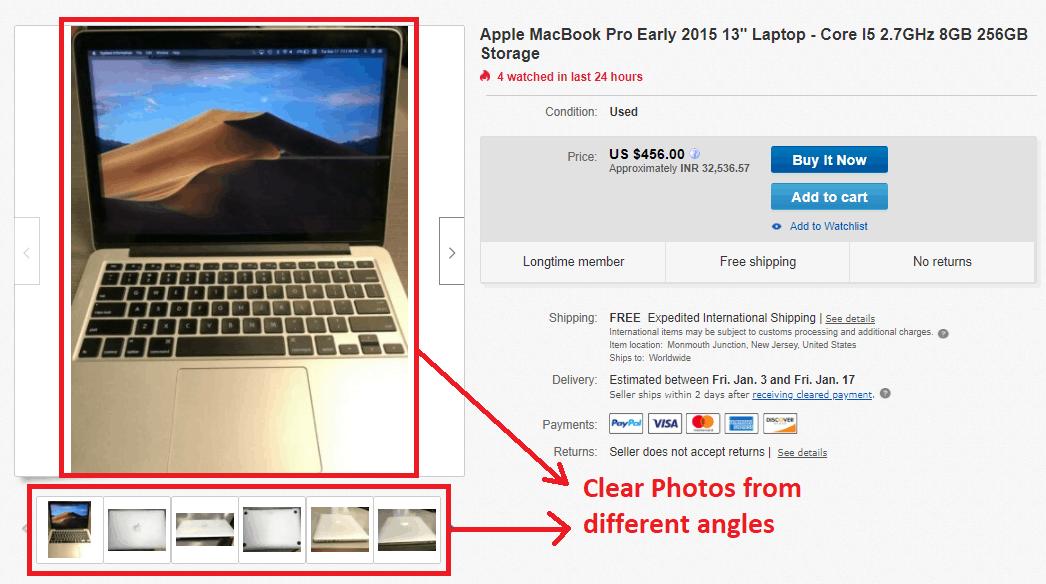 selling on ebay photos