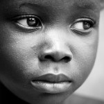 sad little African girl