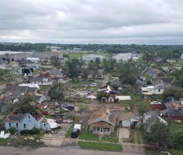 Damage In Marshalltown Iowa Tornado July