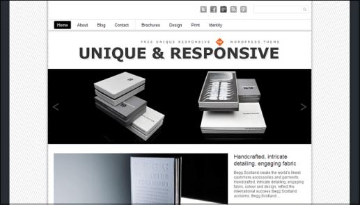 Uniqu wordpress theme