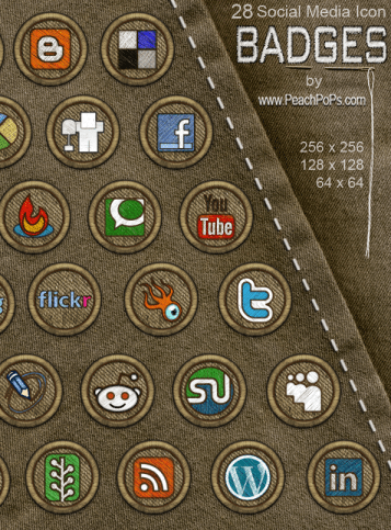 28 Social Media Icon Badges