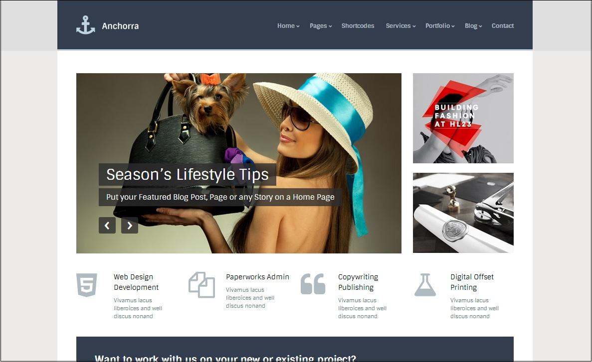 Anchorra WordPress theme