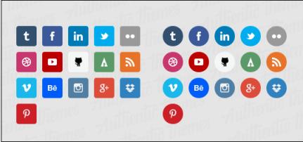 Flat Social Media Icon Set.