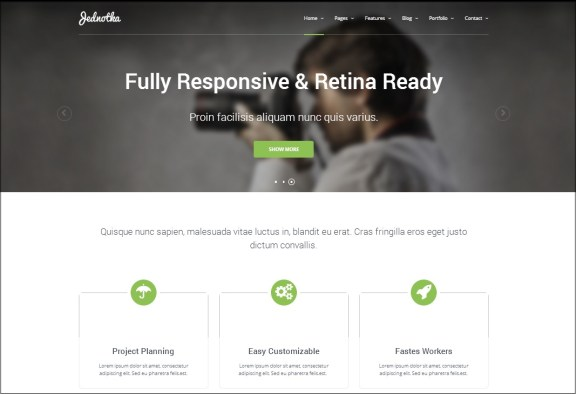 Jednotha  WordPress theme