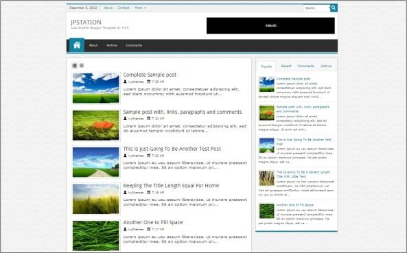 Jpstation Blogger Template
