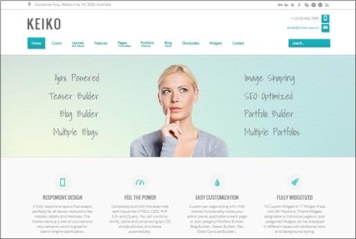 Keiko WordPress theme