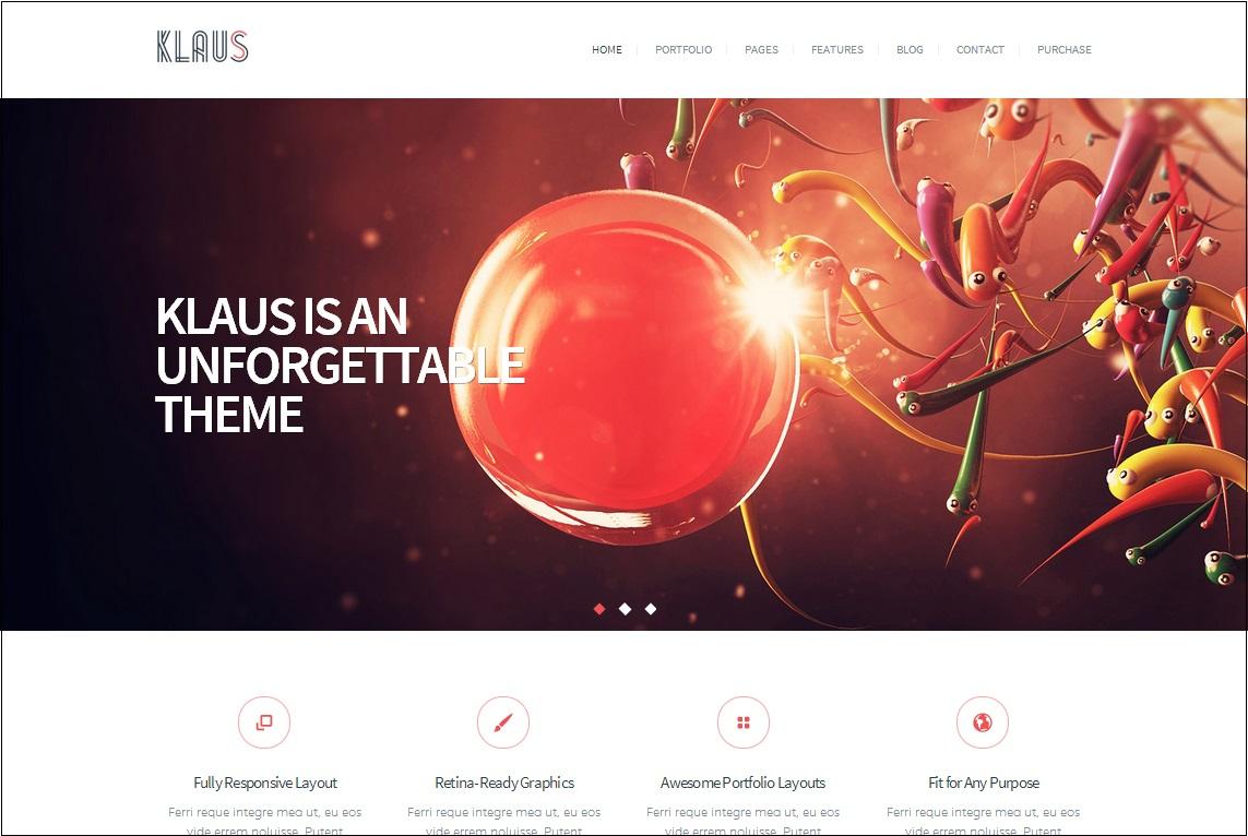 Klaus WordPress Theme