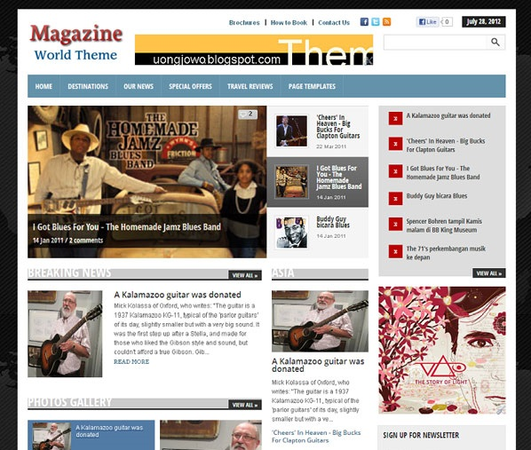 Magazine world blogger template