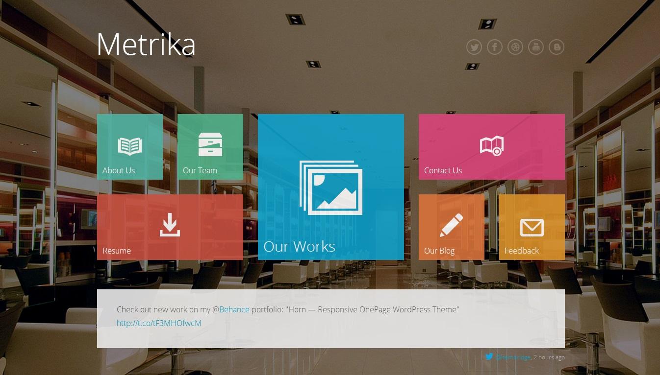 Metrika WordPress Theme