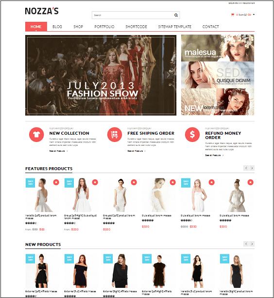 Nozza Fashion WordPress Theme
