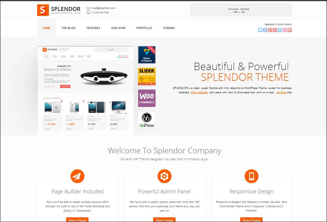 Splendor WordPress theme