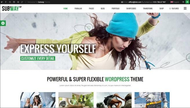 Subway WordPress theme