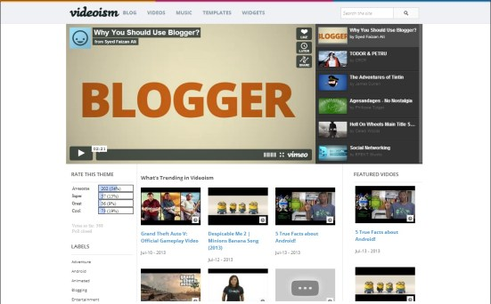 Videoism Blogger Template