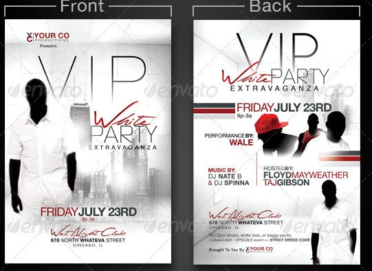 White-Party-Flyer-Template