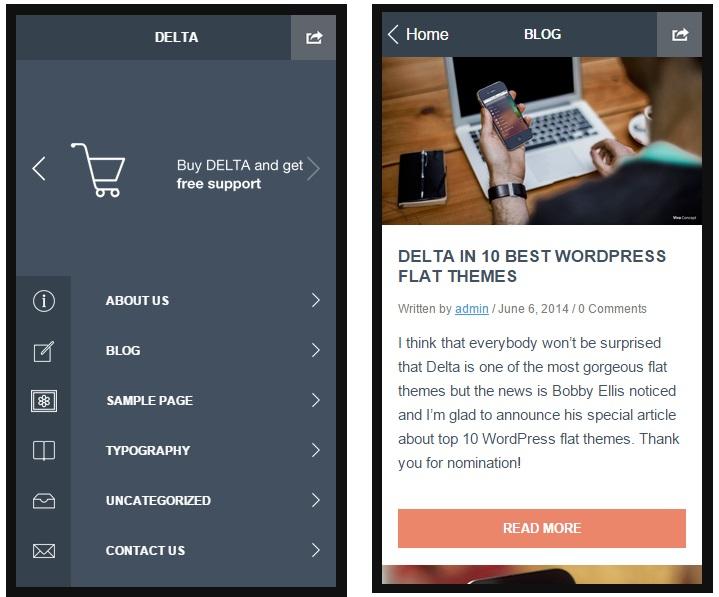 delta mobile wordpress theme