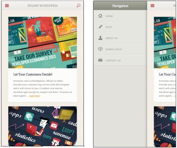 Resans mobile wordpress theme